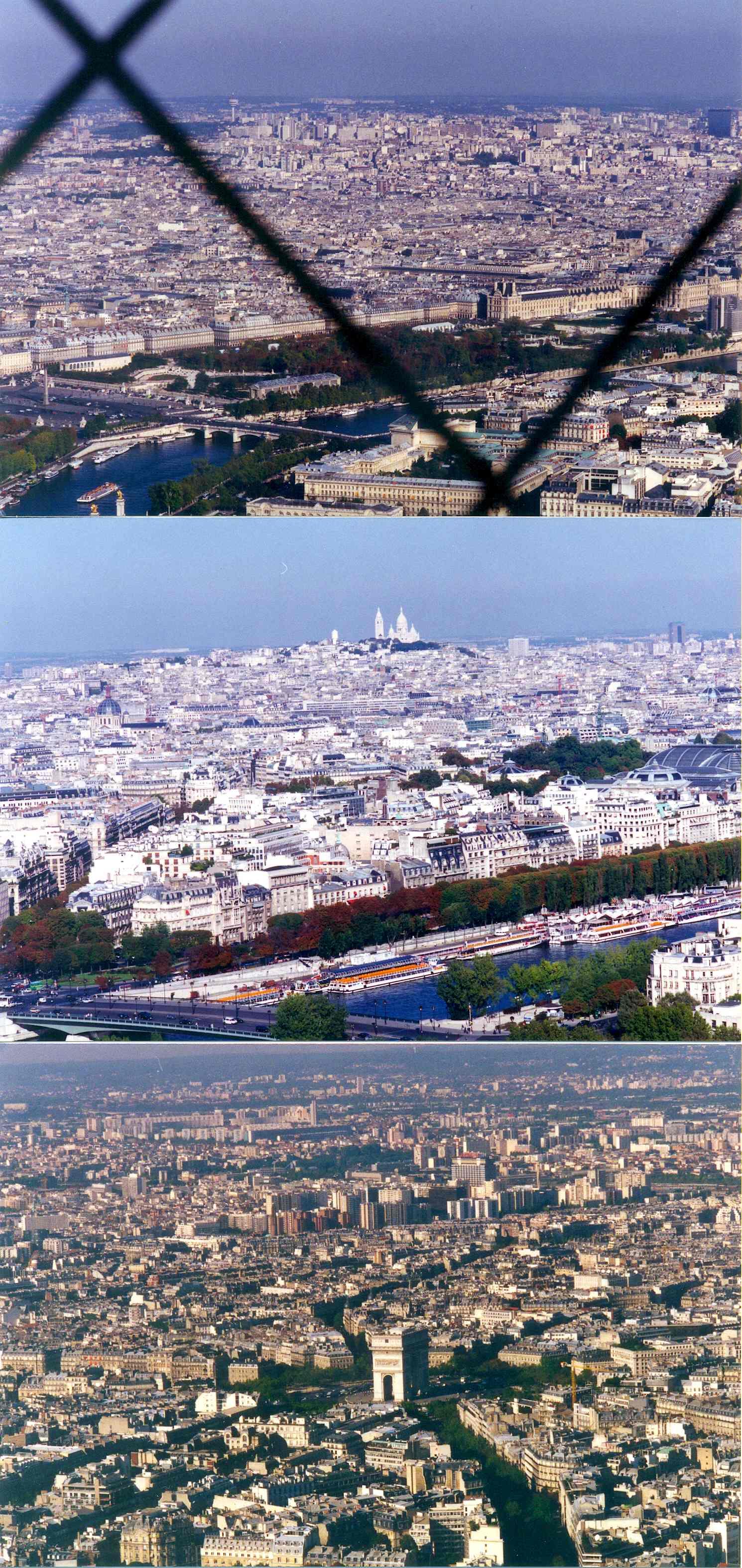 1996년 프랑스 파리 에펠탑에서 바라본 시가지 풍경