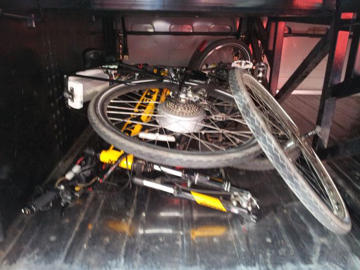 4대강 자전거 종주 새재길 - 버스 짐칸에 자전거 싣고 수안보로