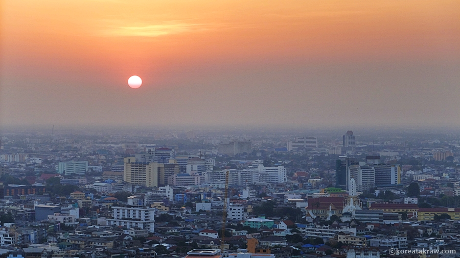 방콕노을 사진