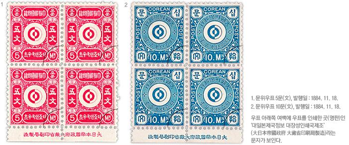 한국 최초의 우표