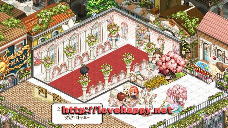 웨딩 파티션과 붉은 카페트로 분위기를 낸 결혼식장 아이러브 파스타 인테리어 by 듀르퐁 001