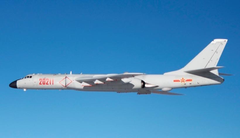 h-6 중국폭격기, 방공식별구역(카디즈, KADIZ) 영공침범