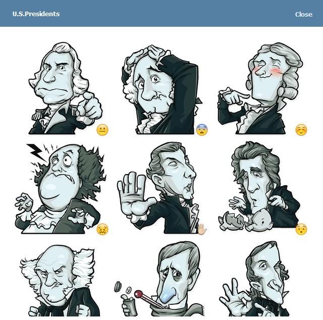 텔레그램 스티커 - US Presidents