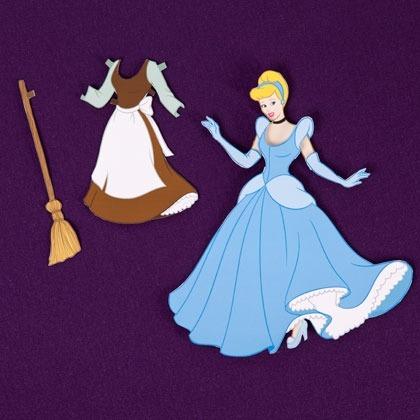 디즈니 공주 종이인형 만들기 4종 모음