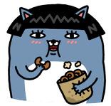 카카오톡 먹보 이모티콘
