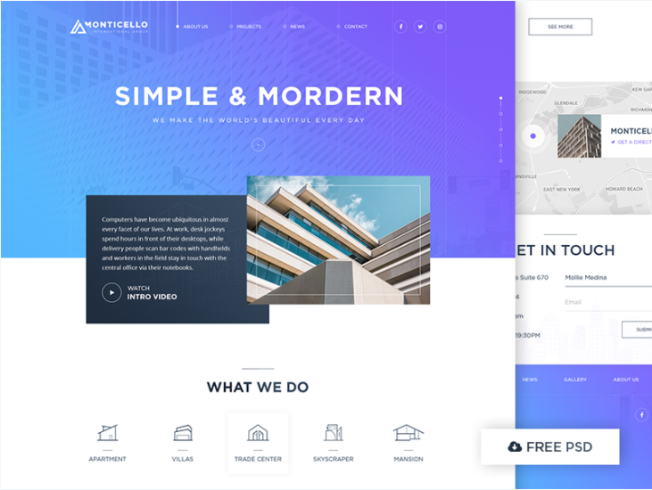 Architecture Web Design Concept