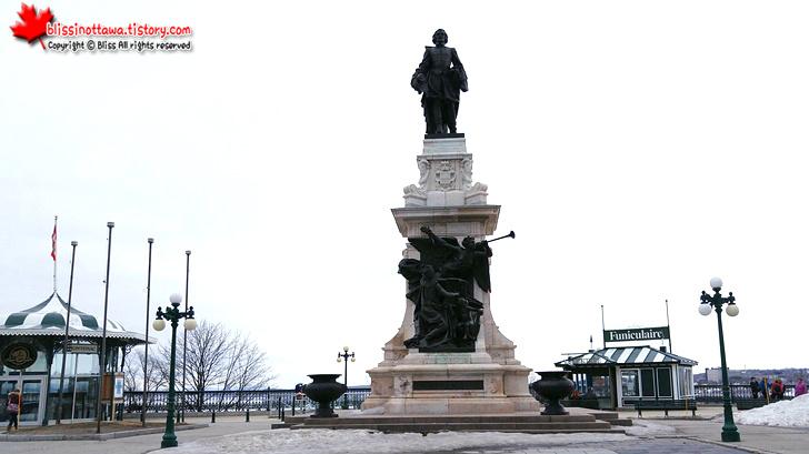 캐나다 동부여행 퀘벡시티의 배꼽, 다름 광장