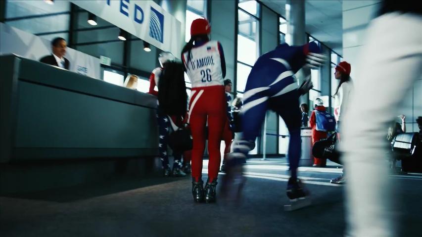 유나이티드(UNITED) 항공의 소치올림픽 미국대표팀 후원 광고 - 공항과 비행기에서 동계올림픽이 개최된다면? [한글자막]