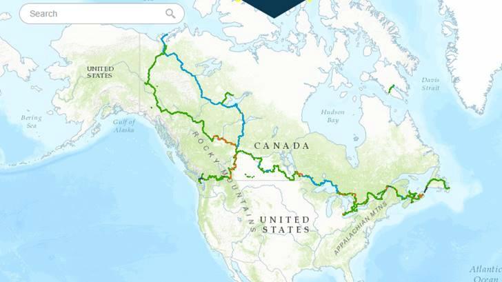 캐나다 자전거 도로 Great Canadian Trail 입니다