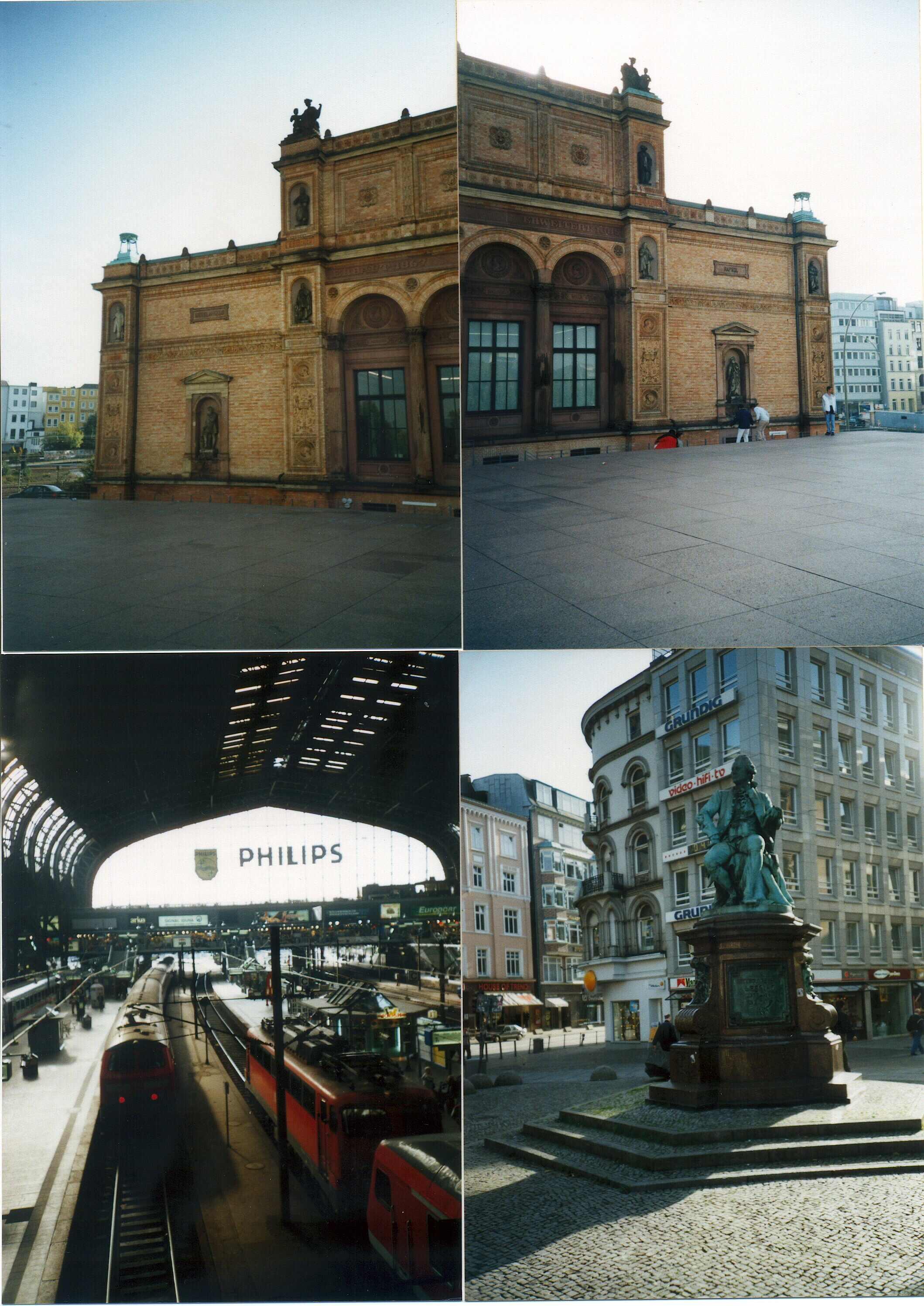 2001년 독일 함부르크 미술관과 기차역
