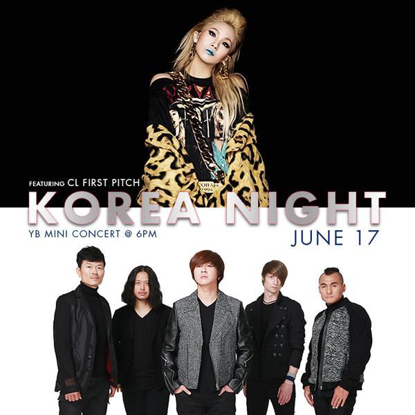 2015년 다저스한국의날 윤도현밴드, 2NE1 씨엘 시구 Dodgers Korea Night CL First Pitch, YB Mini Concert