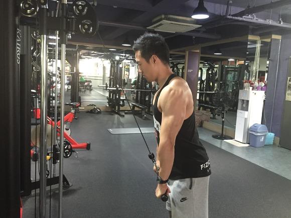 트라이셉스 푸쉬다운(triceps push down)