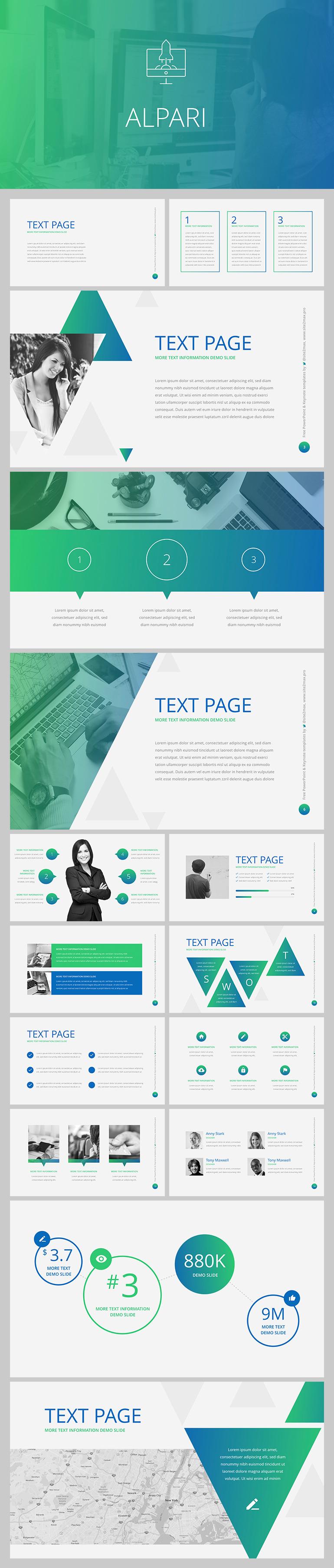 회사 소개서에 쓰면 좋을 PPT 템플릿 - Free PowerPoint Template For Corporate Introduction