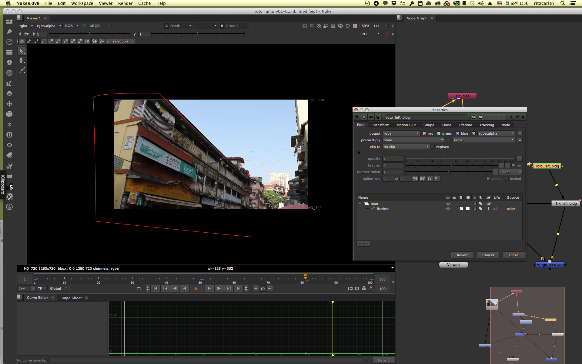 RotoScoping in Nuke and Mocha