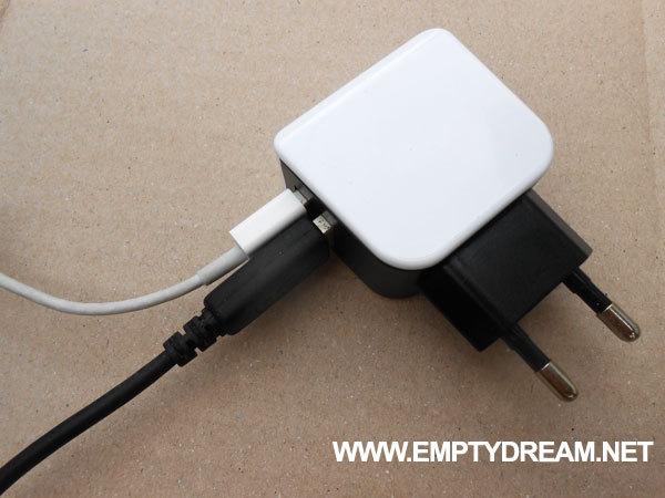 다이소 듀얼 USB 고속 충전기