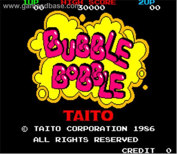 Bubble Bobble title
