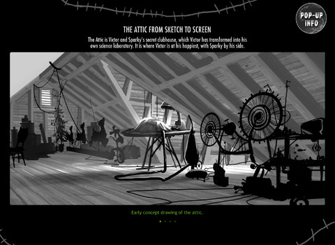 Frankenweenie 프랑켄위니 제작 필름 책