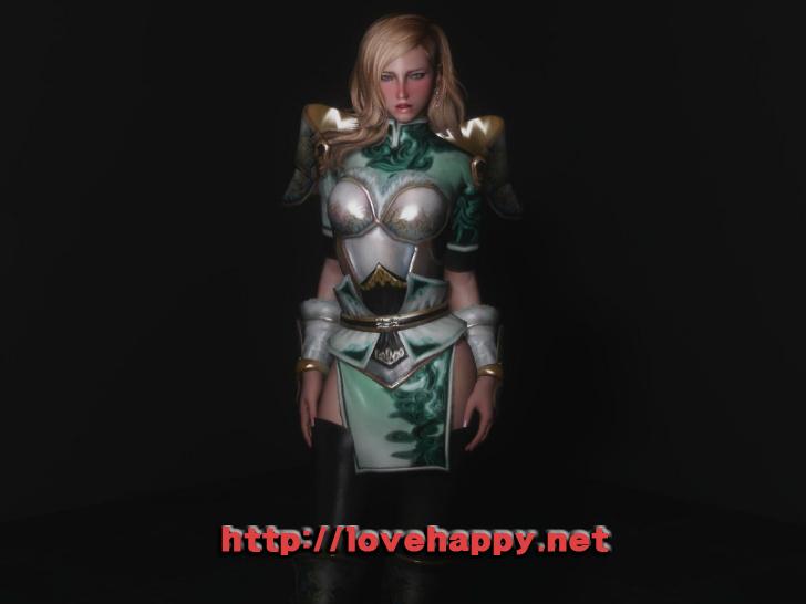 스카이림 의상 - 갑옷 의상 xing xing outfit armor skyrim mod 002