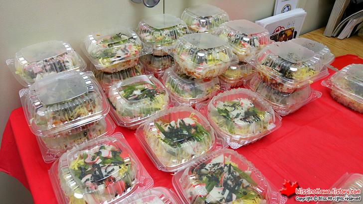 캐나다 일본 벼룩시장 플리마켓 덮밥 초밥 오니기리