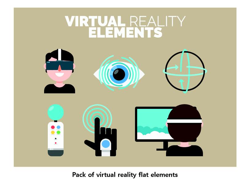 픽토그램 Vr Virtual Reality Glasses 가상현실 3d Vr게임