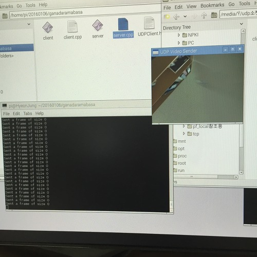 I want to connect two pi with socket programming and opencv