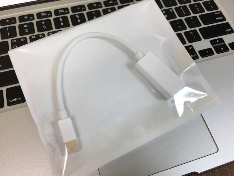 맥북에어, 맥북프로 TV 모니터 연결 어댑터