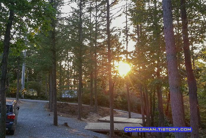 설매재 자연휴양림 가을캠핑
