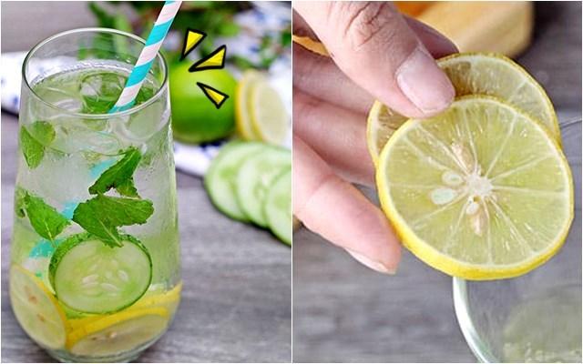 레몬물만들기 오이물만들기 비타민워터 건강
