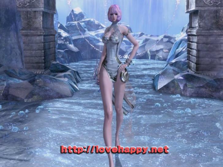블레이드앤소울 의상 - 다리가 이쁜 하얀달. 차이나 드레스 의상 004