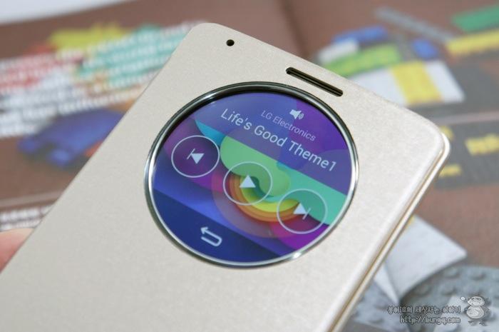 LG G3, 퀵서클케이스, 기능, 음악