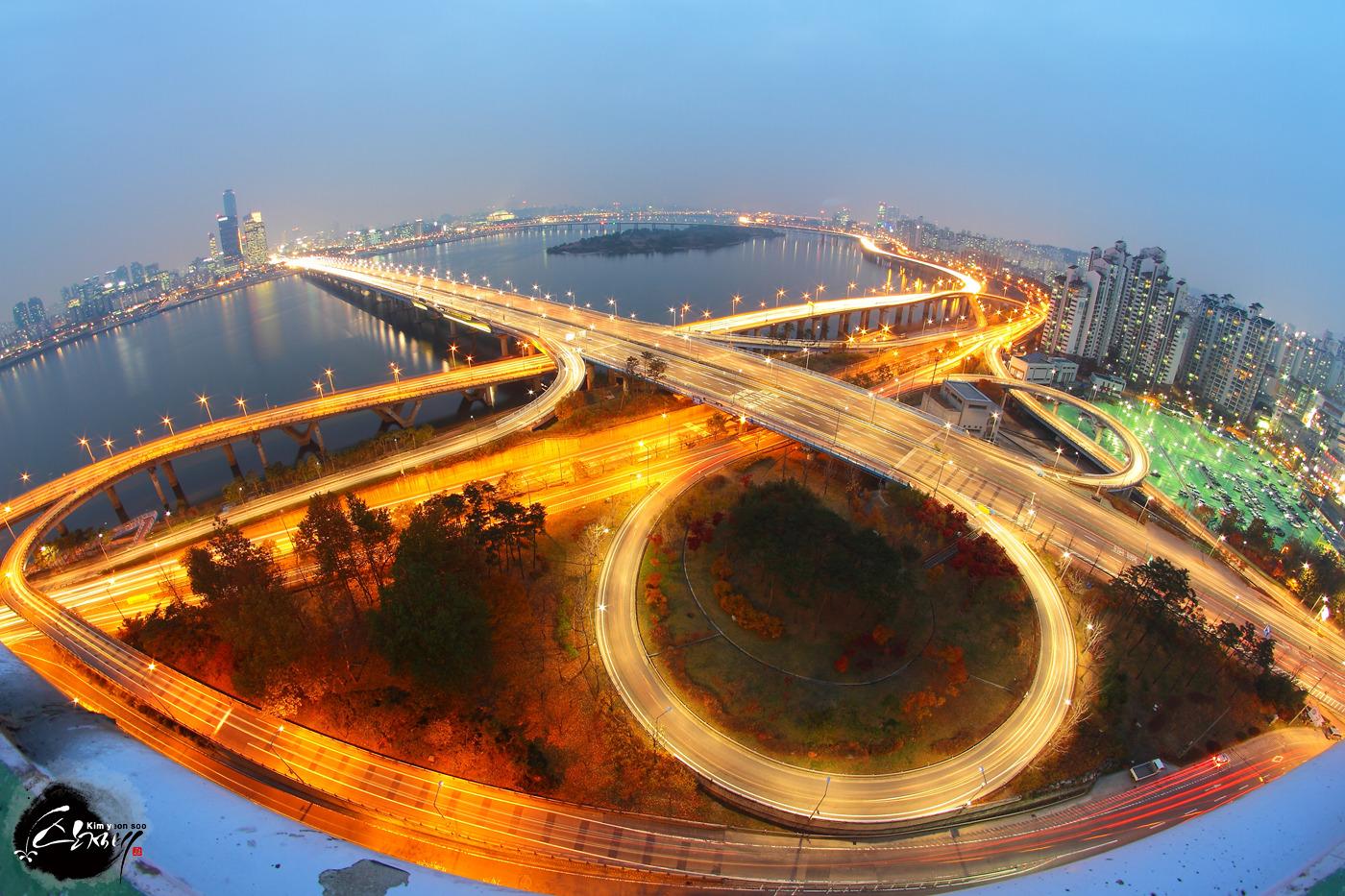 서울 가위포인트 마포램프야경