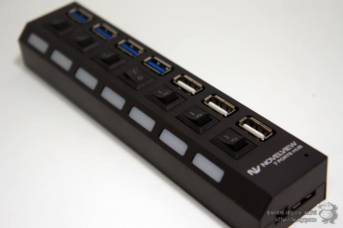 노벨뷰, 7포트, USB 허브, 후기, 디자인, 장점, 단점