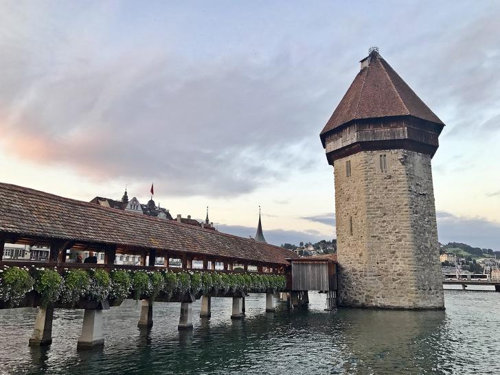 [루체른여행] 루체른(Lucerne)의 랜드마크《카펠교(Chapel Bridge)》
