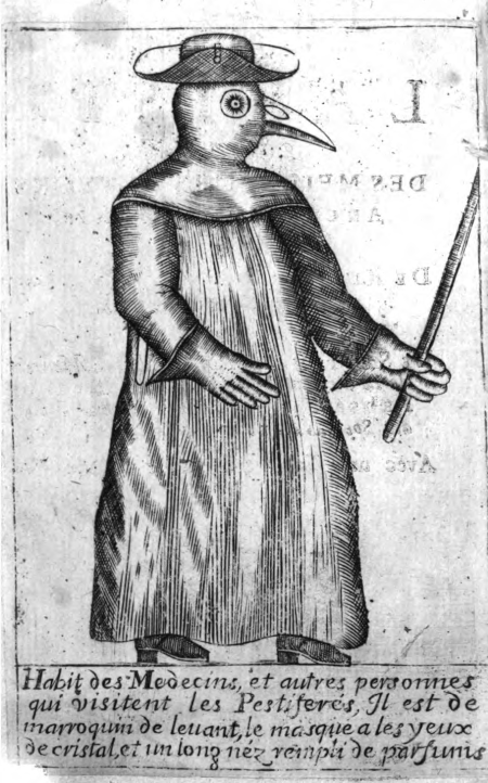 새부리가면 Bird Masks (Plague doctors mask) history