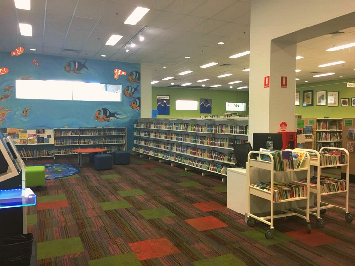 써니뱅크 힐스 도서관 어린이들을 위한 공간