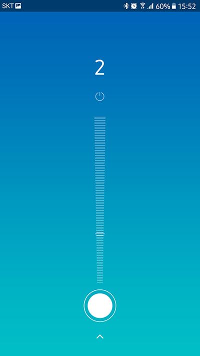 Mi 홈 앱 스마트 선풍기 부분 풍량 조절