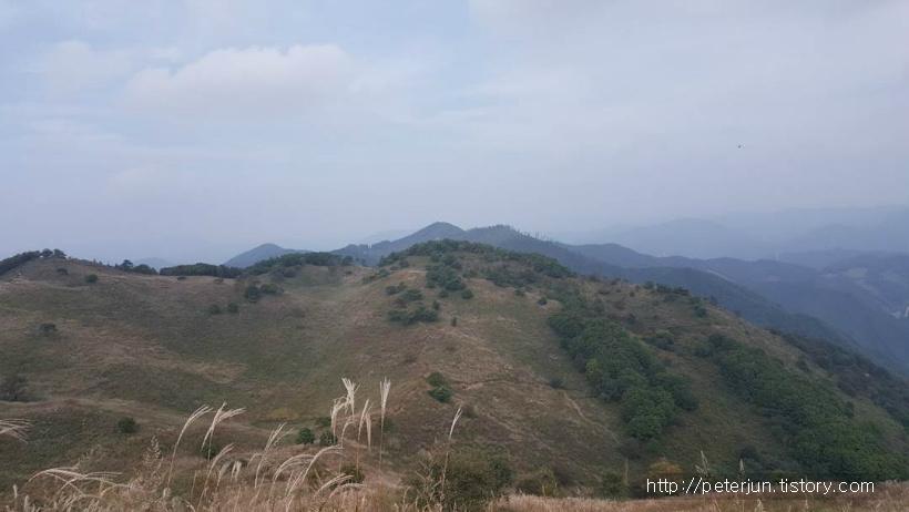 민둥산 정상 풍경 조망
