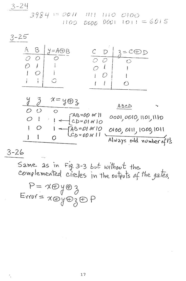 [모리스마노] 컴퓨터구조 연습문제 17p