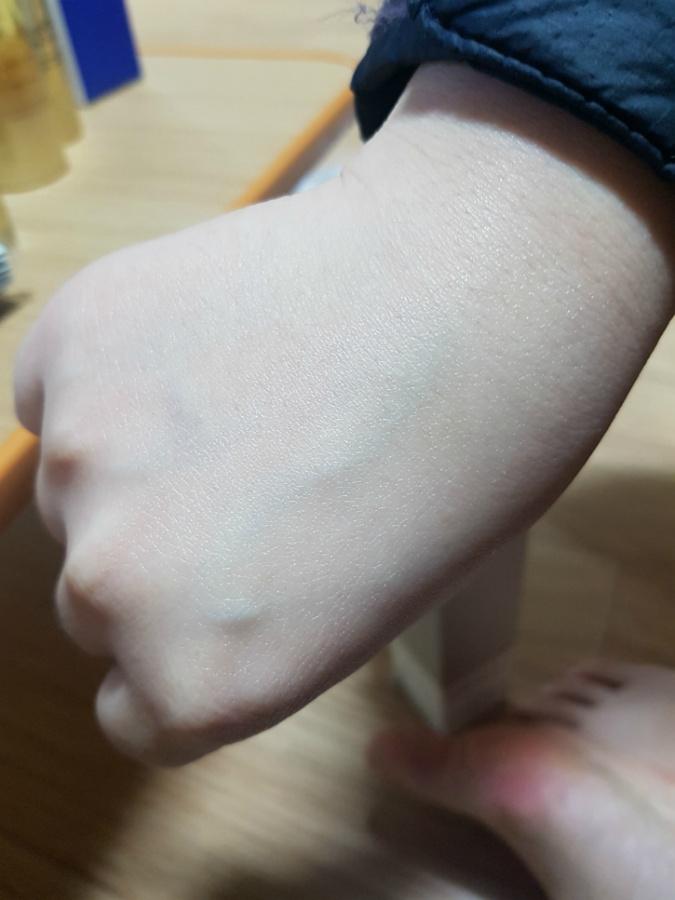 한율 미백 선크림 흡수