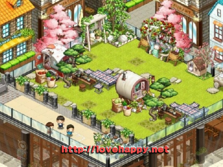 싱그러운 풀밭 위의 야외 캠핌장 아이러브 커피 인테리어 by sujun1942 001