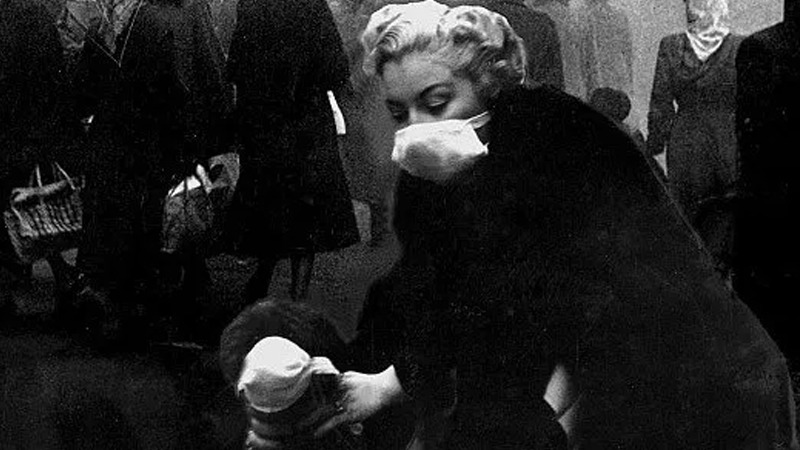사진: 런던 스모크 당시 대비책은 겨우 마스크를 하고 다니는 정도였을 뿐이다.