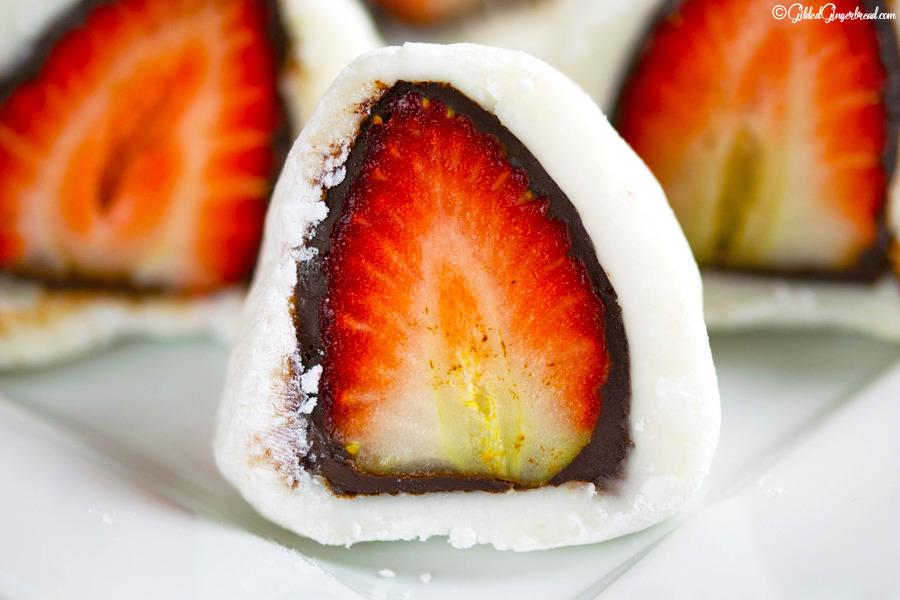 초콜렛 딸기 모찌 gildedgingerbread.tistory.com