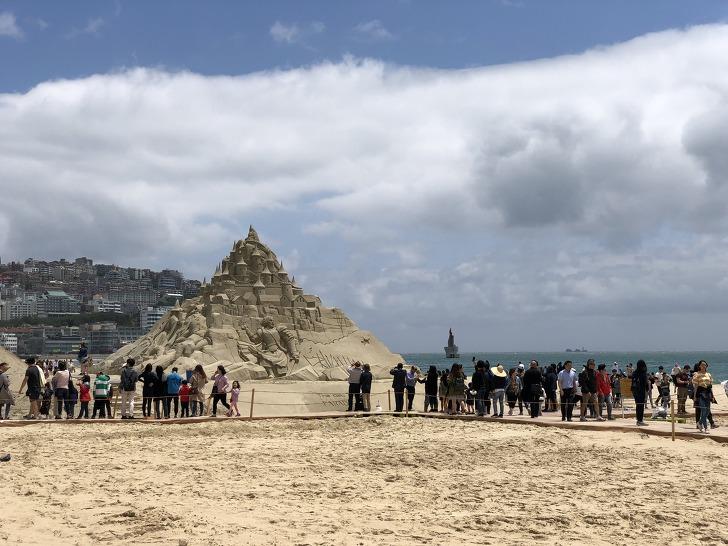 《2018 해운대 모래축제》의  'Hero(영웅), 모래로 만나다' 모래조각작품들